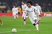 Chelsea forward Willian (10) during The FA Cup match between Hull City and Chelsea at the KCOM Stadium, Kingston upon Hull, England on 25 January 2020.