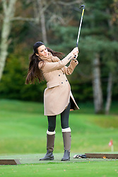 Miss Spain Carla GARCIA BARBER..The Miss World participants play golf at the world famous Gleneagles Hotel, host of The Ryder Cup 2014..MISS WORLD 2011 VISITS SCOTLAND..Pic © Michael Schofield.