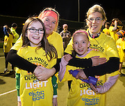 Deirdre Barrow, Shona Mclarkey   and Joanne and her daughter and Kate Kidd at the Kinvara Darkness into Light walk in Kinvara in aid of Pieta House  :<br />  Photo:Andrew Downes, XPOSURE