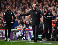 Football - 2018 / 2019 EFL Sky Bet League One - Play-Off Semi-Final, Second Leg: Charlton Athletic (2) vs. Doncaster Rovers (1)<br /> <br /> Charlton Athletic manager Lee Bowyer shouts instructions to his team from the technical area, at The Valley.<br /> <br /> COLORSPORT/ASHLEY WESTERN