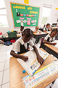 Bahamian school children in New Plymouth on Green Turtle Cay, Bahamas.
