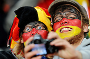 German fans photograph themselves  during the 2010 FIFA World Cup South Africa Group D match between Ghana and Germany at Soccer City Stadium on June 23, 2010 in Johannesburg, South Africa.