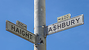 Haight Ashbury Street Intersection Sign