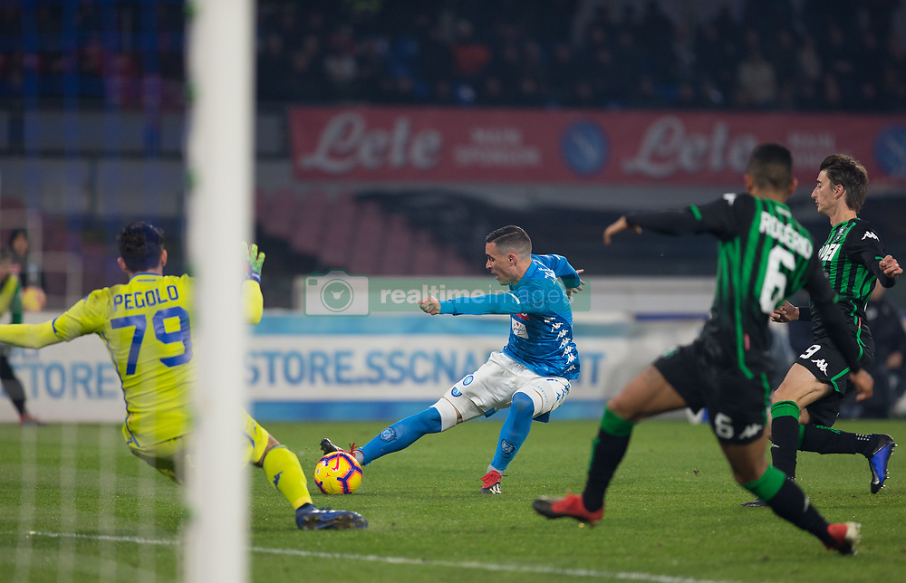 January 13, 2019 - Naples, Campania, Italy - Josè Callejon of SSC Napoli seen in action during the Serie A football match between SSC Napoli vs US Sassuolo at San Paolo Stadium. (Credit Image: © Ernesto Vicinanza/SOPA Images via ZUMA Wire)