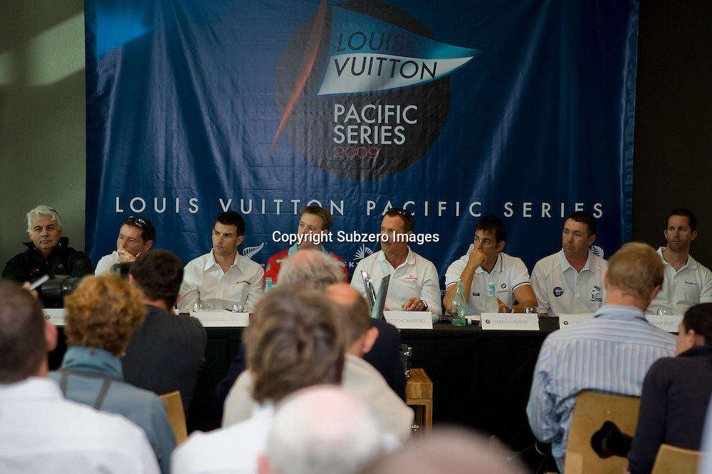 Louis Vuitton Pacific Series briefing and draw, Auckland, New Zealand, 27 January 2009.