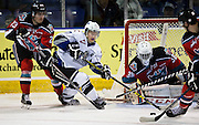 The Victoria Royals play the Kelowna Rockets  at the Save-on-Foods Memorial Centre in Victoria, British Columbia Canada on April 9th, 2016. The Royals beat the Rockets 3-2 and lead Western Hockey League semi-final series 2 games to none.
