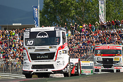 06.07.2013, Red Bull Ring, Spielberg, AUT, Truck Race Trophy, Renntag 1, im Bild Norbert Kiss, (HUN, Oxxo Energy Truck Race Team, #10, 2. Platz), Anthony Janiec, (FRA, Anthony Janiec, #9) // during the Truck Race Trophy 2013 at the Red Bull Ring in Spielberg, Austria, 2013/07/06, EXPA Pictures © 2013, PhotoCredit: EXPA/ M.Kuhnke