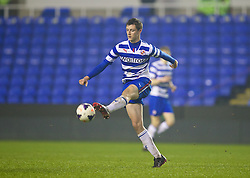 READING, ENGLAND - Wednesday, March 12, 2014: Reading's Dominic Hyam in action against Liverpool during the FA Youth Cup Quarter-Final match at the Madejski Stadium. (Pic by David Rawcliffe/Propaganda)