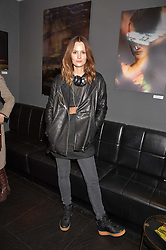 Charlotte de Carle at an exhibition of photographs by Erica Bergsmeds held at The Den, 100 Wardour Street, London England. 19 January 2017.