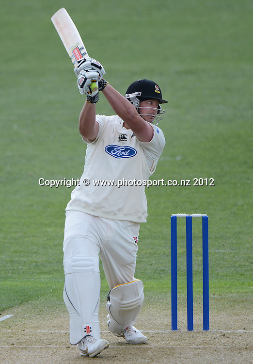Wellington's Jesse Ryder batting. Plunket Shield Cricket, Auckland Aces v Wellington Firebirds at Eden Park Outer Oval. Auckland on Monday 26 November 2012. Photo: Andrew Cornaga/Photosport.co.nz