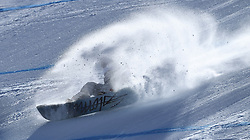 February 12, 2018 - Pyeongchang, South Korea - HAILEY LANGLAND of the United States crashes during the Womens Snowboard Slopestyle finals at Phoenix Snow Park at the Pyeongchang Winter Olympic Games.  Photo by Mark Reis, ZUMA Press/The Gazette (Credit Image: © Mark Reis via ZUMA Wire)