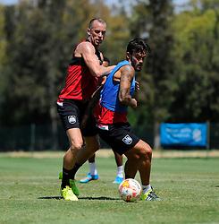Aaron Wilbraham of Bristol City battles for the ball with Marlon Pack of Bristol City  - Photo mandatory by-line: Joe Meredith/JMP - Mobile: 07966 386802 - 17/07/2015 - SPORT - Football - Albufeira -  - Pre-Season Training