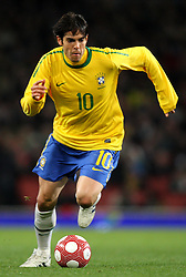 Brazil's Kaka in action during todays match ..Brazil V Republic of Ireland, International Friendly, 2nd March 2010, Emirates Stadium, London.