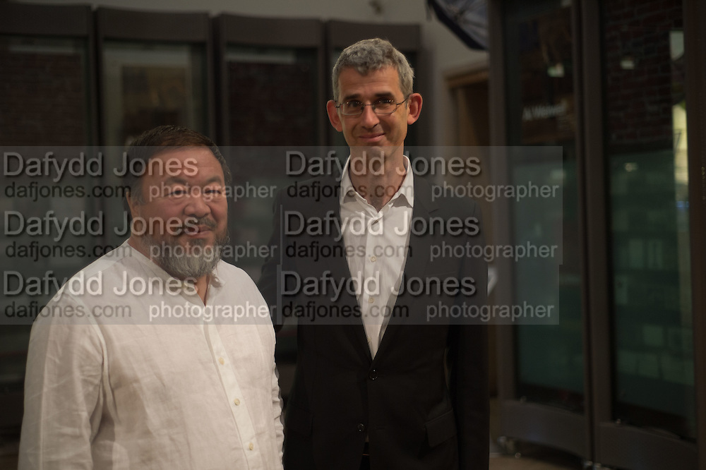 AI WEIWEI; EDMUND DE WAAL, Ai Weiwei, Royal Academy, Piccadilly. London.  15 September 2015.