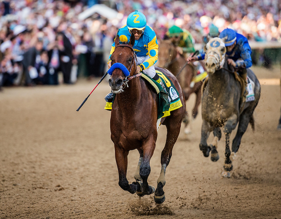 May 02, 2015: American Pharaoh with Victor Espinoza wins the Kentucky Derby at Churchill Downs Louisville Ky. Alex Evers/ESW/CSM