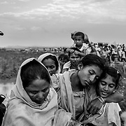 Since the end of august 2017, the beginning of the crisis, more than 600,000 Rohingyas have fled Myanmar to seek refuge in Bangladesh. Cox's Bazar - november the 2nd 2017.<br /> Depuis le début de la crise, fin août 2017, plus de 600000 Rohingyas ont fuit la Birmanie pour trouver refuge au Bangladesh. Cox's Bazar le 02 novembre 2017.
