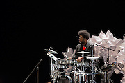 "Ahmir ""Questlove"" Thompson at his drum kit."
