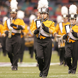 21 December 2008:  The Southern Miss band performs during pregame of the  R+L Carriers New Orleans Bowl between Southern Miss and Troy at the New Orleans Superdome in New Orleans, LA.