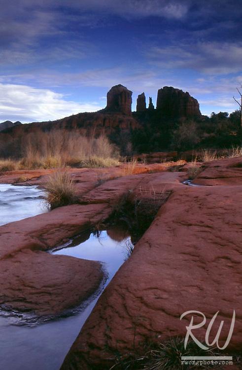 Cathedral Rocks at Red Rock Crossing, Sedona, Arizona