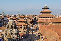 Nepal. Vallee de Katmandou. Ville Newar de Patan. Place de Durbar Square. // Nepal. Kathmandu valley. Newar city of Patan. Durbar Square.