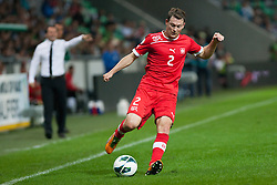 Stephan Lichtsteiner of Switzerland during qualification football match for World Cup 2014 in Brazil between national team of Slovenia and Switzerland, on September 7, 2012 in Ljubljana, Slovenia. (Photo by Matic Klansek Velej / Sportida.com)