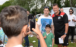 Bristol City manager, Steve Cotterill has his photo taken with fans - Photo mandatory by-line: Dougie Allward/JMP - Mobile: 07966 386802 - 05/07/2015 - SPORT - Football - Bristol - Brislington Stadium - Pre-Season Friendly