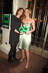 Left to right, JEMIMA KHAN and KATE REARDON at a party to celebrate the publication of Top Tips For Girls by Kate Reardon held at Claridge's, Brook Street, London on 28th January 2008.<br />