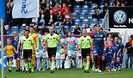FODBOLD: Spillerne går på banen til kampen i ALKA Superligaen mellem SønderjyskE og FC Helsingør den 28. juli 2017 på Sydbank Park i Haderslev. Foto: Claus Birch