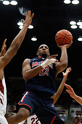 February 3, 2011; Stanford, CA, USA;  Arizona Wildcats forward Derrick Williams (23) shoots against the Stanford Cardinal during the second half at Maples Pavilion.  Arizona defeated Stanford 78-69.