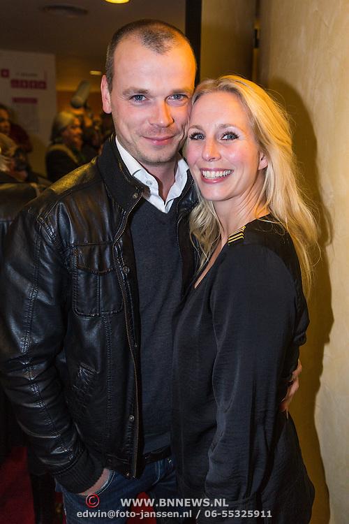 NLD/Leiden/20130930 - Premiere Garland, Alexandra Aphenaar en partner Jaap van Andel