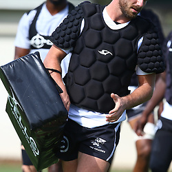 DURBAN, SOUTH AFRICA, Tuesday, 23rd February 2016 - Willie le Roux during The Cell C Sharks  Media Interviews in The Sharks Gym,and<br /> Pre Season training for the 2016 Super Rugby Season at Growthpoint Kings Park in Durban, South Africa. (Photo by Steve Haag)<br /> images for social media must have consent from Steve Haag