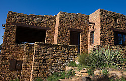 Administrative building, designed to mimic the cliff dwellings at the Park Headquarters of Mesa Verde National Park, near Cortez, Colorado.