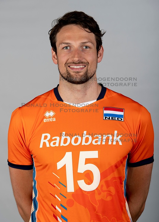 14-05-2018 NED: Team shoot Dutch volleyball team men, Arnhem<br /> Thomas Koelewijn #15 of Netherlands