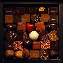 A designer assortment of Pierre Marcolini chocolates.
