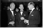 20/08/1962<br /> 08/20/1962<br /> 20 August 1962 <br /> Efficient Distribution Ltd. Dinner at Shelbourne Hotel, Dublin. Chatting during the reception were (l-r): R. Forsythe, Messrs Brown and Polson; M.J. O'Reilly, Messrs McNulty and O'reilly and J.F. Kearney, Director, Messrs Williams and Woods Ltd..