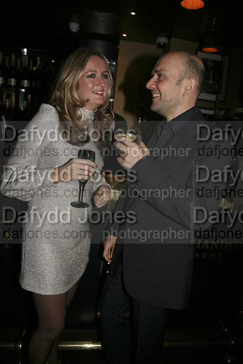 Lucy Yeomans and Marc Quinn, Bazaar and Moet  Black, White and Gold party. Ronnie Scott's. Frith St. London. 16 november 2006. ONE TIME USE ONLY - DO NOT ARCHIVE  © Copyright Photograph by Dafydd Jones 66 Stockwell Park Rd. London SW9 0DA Tel 020 7733 0108 www.dafjones.com