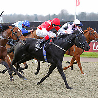 Tautira and Louis Steward winning the 12.15 race