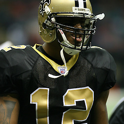 2007 December, 2: New Orleans Saints wide receiver Marques Colston (12)during a 27-23 win by the Tampa Bay Buccaneers over the New Orleans Saints at the Louisiana Superdome in New Orleans, LA.
