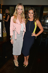 Left to right, LAUREN POPE and NATASHA CORRETT at a party to celebrate the publication of Honestly Healthy Cleanse by Natasha Corrett held at Tredwell's Restaurant, 4a Upper St.Martin's Lane, London on 14th January 2015.