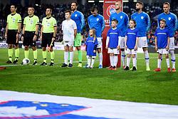Team Slovenia during the 2020 UEFA European Championships group G qualifying match between Slovenia and Austria at SRC Stozice on October 13, 2019 in Ljubljana, Slovenia. Photo by Sasa Pahic Szabo / Sportida