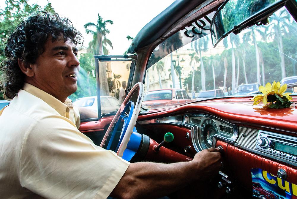 Taxi Driver Havana Cuba