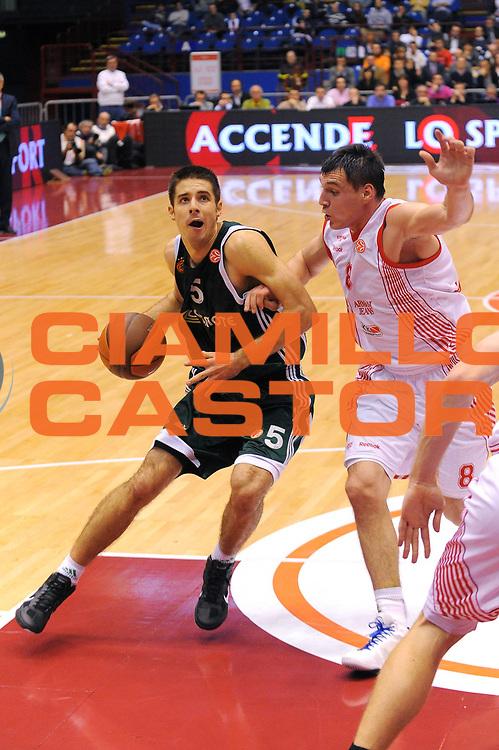 DESCRIZIONE : Milano Eurolega 2010-11 Armani Jeans Milano Panathinaikos Atene<br />GIOCATORE : Milenko Tepic<br />SQUADRA : Armani Jeans Milano <br />EVENTO : Eurolega 2010-2011<br />GARA :  Armani Jeans Milano Panathinaikos Atene<br /> DATA : 18/11/2010<br />CATEGORIA : Palleggio<br />SPORT : Pallacanestro <br />AUTORE : Agenzia Ciamillo-Castoria/A.Dealberto<br />Galleria : Eurolega 2010-2011<br />Fotonotizia : Milano Eurolega Euroleague 2010-11 Armani Jeans Milano Panathinaikos Atene<br />Predefinita :
