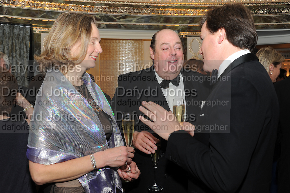 SERENA SOAMES; HON NICHOLAS SOAMES; JULIAN DOLLAR, The Cartier Racing Awards. The Ballroom, Dorchester hotel. Park Lane. London. 15 November 2011. <br /> <br />  , -DO NOT ARCHIVE-&copy; Copyright Photograph by Dafydd Jones. 248 Clapham Rd. London SW9 0PZ. Tel 0207 820 0771. www.dafjones.com.