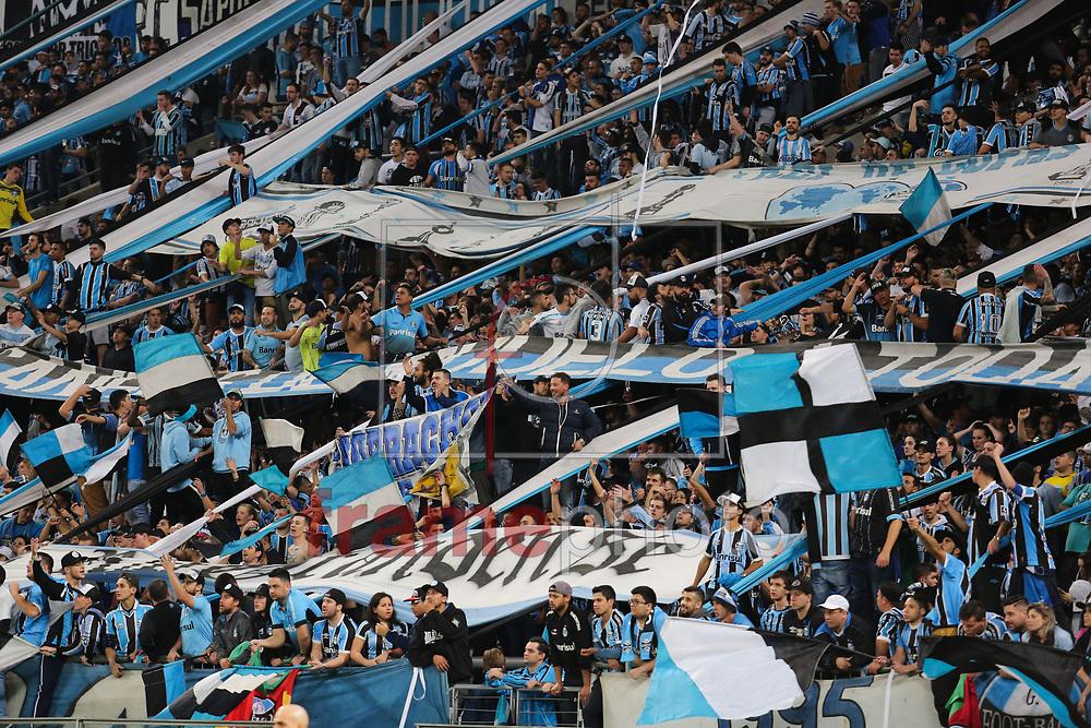 Torcida do Grêmio durante o jogo disputado entre Grêmio e Cruzeiro, na Arena do Grêmio, em Porto Alegre, válido pela Copa do Brasil 2017. Foto: Richard Ducker/FramePhoto