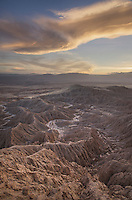 Sunset over Borrego Badlands from Fonts Point, Anza-Borrego Desert State Park California