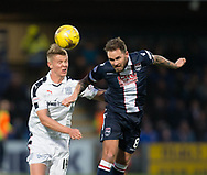 Dundee&rsquo;s Mark O&rsquo;Hara and Ross County's Martin Woods - Ross County v Dundee in the Ladbrokes Scottish Premiership at The Global Energy Stadium, Dingwall, Photo: David Young<br /> <br />  - &copy; David Young - www.davidyoungphoto.co.uk - email: davidyoungphoto@gmail.com