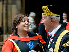 Andrew Neil and Susan Calman honorary degrees from Glasgow University, Glasgow, 13 June 2018