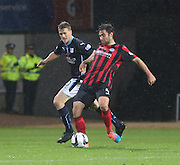 Dundee's Jim McAlister and St Johnstone's Simon Lappin -  Dundee v St Johnstone, SPFL Premiership at Dens Park<br /> <br />  - &copy; David Young - www.davidyoungphoto.co.uk - email: davidyoungphoto@gmail.com