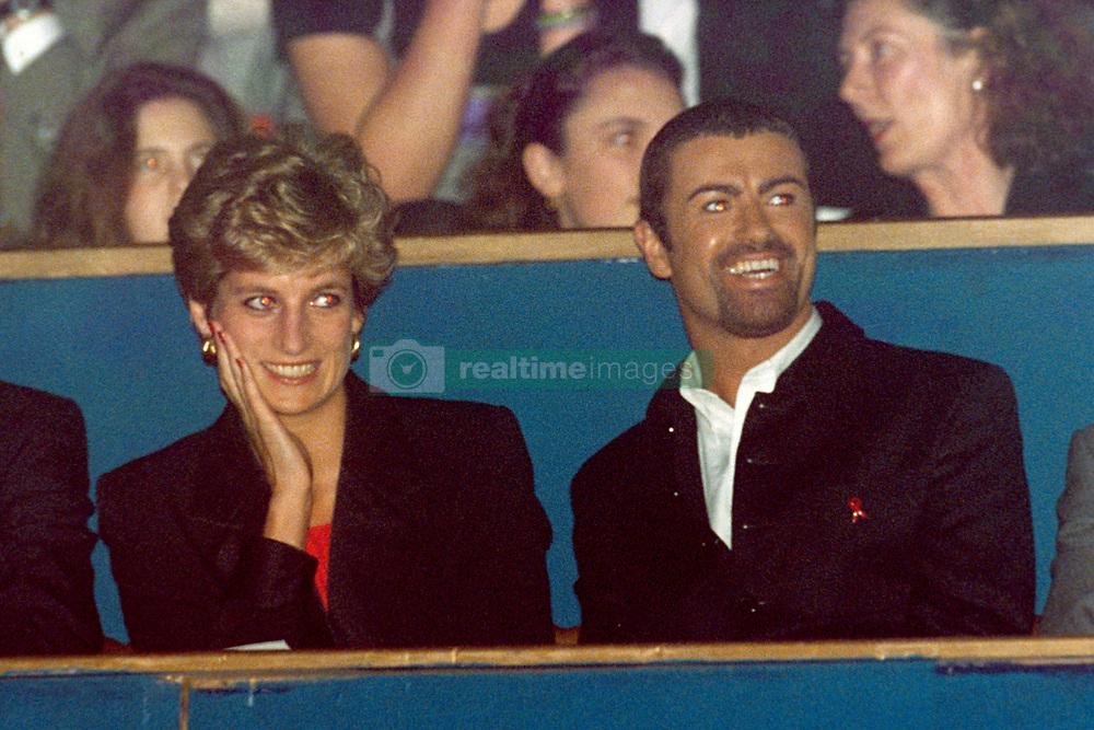 (L-R) HRH Princess Diana and George Michael