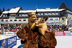 Mascots during Men 15 km Mass Start competition of the e.on IBU Biathlon World Cup on Sunday, March 9, 2014 in Pokljuka, Slovenia. Photo by Vid Ponikvar / Sportida